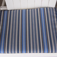 A&L Furniture Weather-Resistant Outdoor Acrylic Chair Cushion, Blue Stripe