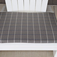 A&L Furniture Weather-Resistant Outdoor Acrylic Chair Cushion, Cottage Gray