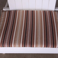 A&L Furniture Weather-Resistant Outdoor Acrylic Chair Cushion, Maroon Stripe