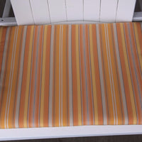 A&L Furniture Weather-Resistant Outdoor Acrylic Chair Cushion, Orange Stripe