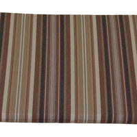 A&L Furniture Weather-Resistant Acrylic Outdoor Rocking Chair Cushion, Maroon Stripe