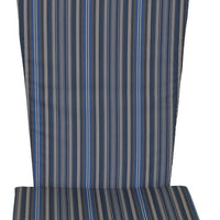 A&L Furniture Weather-Resistant Outdoor Acrylic Full Adirondack Chair Cushion, Blue Stripe