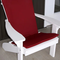 A&L Furniture Weather-Resistant Outdoor Acrylic Full Adirondack Chair Cushion, Burgundy