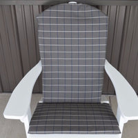A&L Furniture Weather-Resistant Outdoor Acrylic Full Adirondack Chair Cushion, Cottage Gray