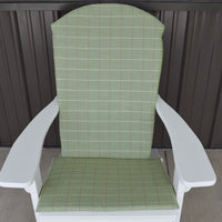 A&L Furniture Weather-Resistant Outdoor Acrylic Full Adirondack Chair Cushion, Cottage Green