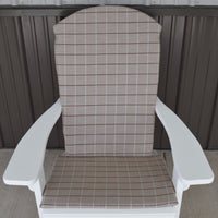 A&L Furniture Weather-Resistant Outdoor Acrylic Full Adirondack Chair Cushion, Cottage Tan