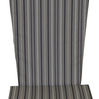 A&L Furniture Weather-Resistant Outdoor Acrylic Full Adirondack Chair Cushion, Gray Stripe