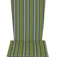 A&L Furniture Weather-Resistant Outdoor Acrylic Full Adirondack Chair Cushion, Lime Green