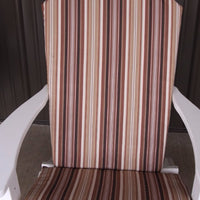 A&L Furniture Weather-Resistant Outdoor Acrylic Full Adirondack Chair Cushion, Maroon Stripe