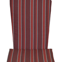 A&L Furniture Weather-Resistant Outdoor Acrylic Full Adirondack Chair Cushion, Red Stripe