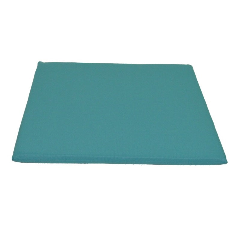 A&L Furniture Weather-Resistant Acrylic Outdoor Dining Chair Cushion, Aqua