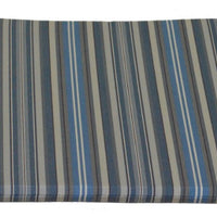 A&L Furniture Weather-Resistant Acrylic Outdoor Dining Chair Cushion, Blue Stripe