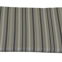 A&L Furniture Weather-Resistant Acrylic Outdoor Dining Chair Cushion, Gray Stripe