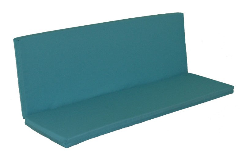 A&L Furniture Weather-Resistant Outdoor Acrylic Full Bench Cushion, Aqua