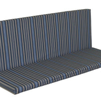 A&L Furniture Weather-Resistant Outdoor Acrylic Full Bench Cushion, Blue Stripe