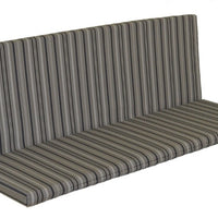 A&L Furniture Weather-Resistant Outdoor Acrylic Full Bench Cushion, Gray Stripe