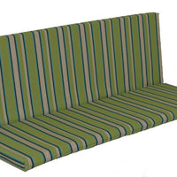 A&L Furniture Weather-Resistant Outdoor Acrylic Full Bench Cushion, Lime Stripe