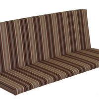 A&L Furniture Weather-Resistant Outdoor Acrylic Full Bench Cushion, Maroon Stripe