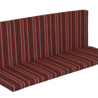 A&L Furniture Weather-Resistant Outdoor Acrylic Full Bench Cushion, Red Stripe