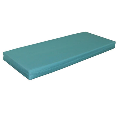 A&L Furniture Weather-Resistant Acrylic Storage Bench Cushion, Aqua