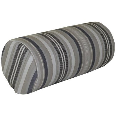 A&L Furniture Weather-Resistant Outdoor Acrylic New Hope Head Pillow, Gray Stripe