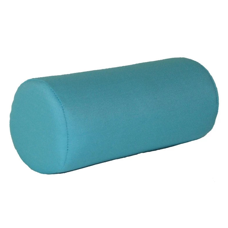 "A&L Furniture 18"" Weather-Resistant Outdoor Acrylic Bolster Pillow, Aqua"