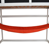 A&L Furniture Weather-Resistant Indoor/Outdoor Acrylic Hammock, Red