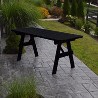 A&L Furniture Amish-Made Pine Traditional Picnic Table, Black