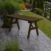 A&L Furniture Amish-Made Pine Traditional Picnic Table, Coffee