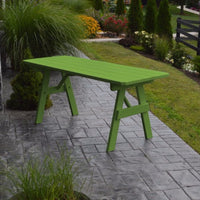 A&L Furniture Amish-Made Pine Traditional Picnic Table, Lime Green