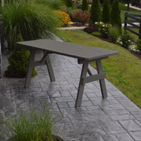 A&L Furniture Amish-Made Pine Traditional Picnic Table, Olive Gray
