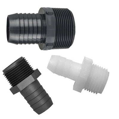 Straight Adapters: Male Thread (MPT) to Insert (Barb)