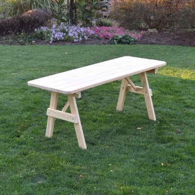 A&L Furniture Amish Pressure-Treated Pine Traditional A-Frame Picnic Table, Unfinished