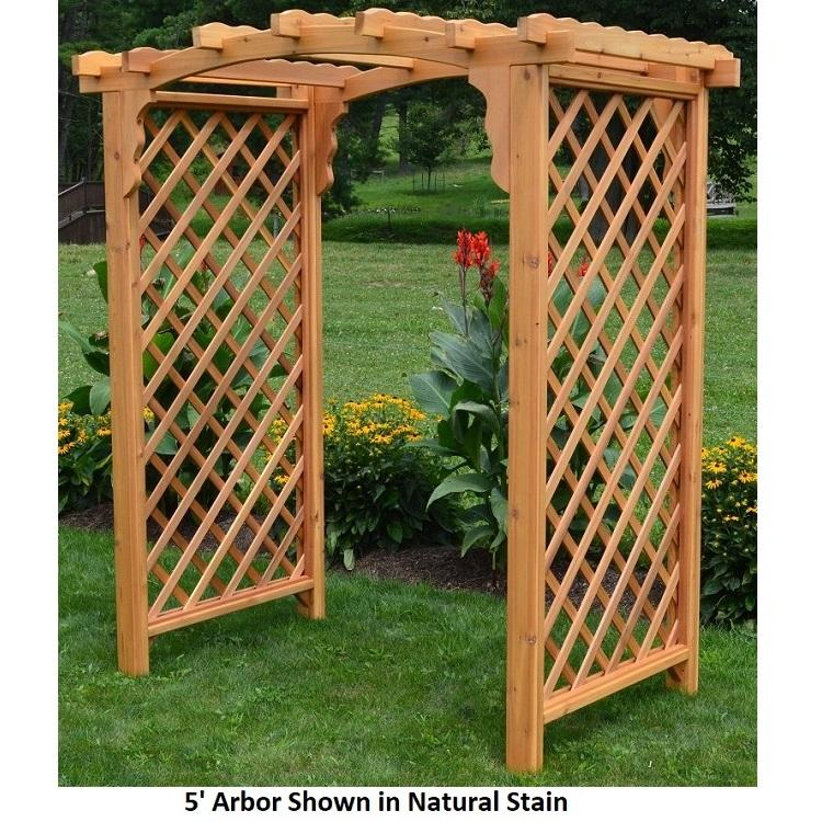 Amish-Made 6' Cedar Arbors