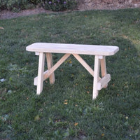 A&L Furniture Amish-Made Pressure-Treated Pine Traditional A-Frame Bench, Unfinished