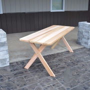 A&L Furniture Cedar Cross-Leg Picnic Table, Unfinished
