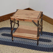 A&L Furniture Amish-Made Rustic Hickory End Table