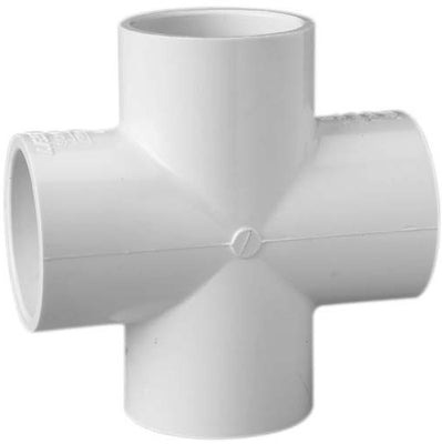 Schedule 40 PVC Four-Way Cross Fitting, Slip Ends