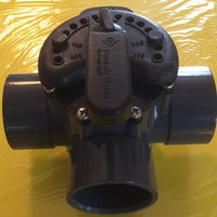 Front view of Three-Way Valve for Flow Control Applications