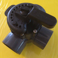 Angled view of Three-Way Valve for Flow Control Applications