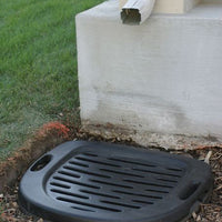 AquascapePRO® Downspout Filter installed below rainspout