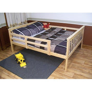 A&L Furniture Company VersaLoft Full Mission Bed with Safety Rails, Unfinished