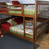 A&L Furniture Company VersaLoft Full Mission Bunkbed, Asbury Stain