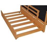 A&L Furniture Company VersaLoft Full Trundle Bed, Honey stain