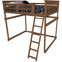 A&L Furniture Company VersaLoft Full Mission Loft Beds with Side Ladder, Asbury Stain