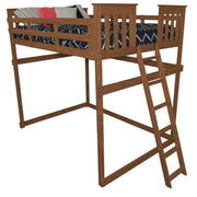 A&L Furniture Company VersaLoft Full Mission Loft Beds with End Ladder, Asbury Stain