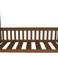 A&L Furniture Company VersaLoft Twin Mission Hanging Daybed with Chains, Asbury stain