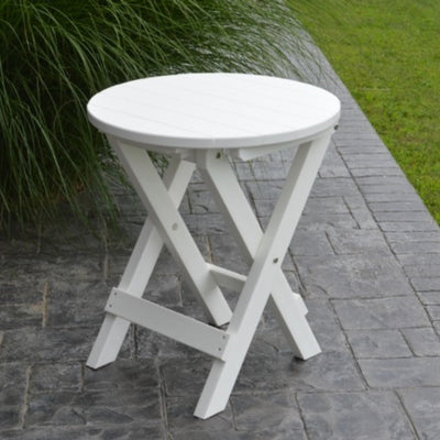 A&L Furniture Poly Round Folding Bistro Table