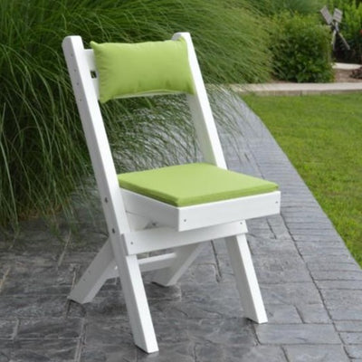 A&L Furniture Amish-Made Poly Coronado Folding Bistro Chair
