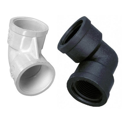 90 Degree Female Thread to Female Thread PVC Elbows